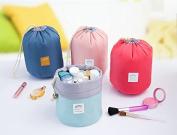 AccMart Makeup Bag|Travel Kit Organiser|Bathroom Storage Cosmetic Bag|Toiletry Bag|Make up Pouches|Barrel Shaped Cosmetic Bag|Drawstring Wash Bag|Travel Wash Toiletry Beauty Organiser Pouch