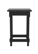 Urbanest Christopher Accent End Table, 60cm Tall, Black