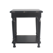 Urbanest Reynolds Accent End Table, 60cm Tall, Black