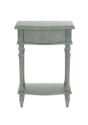 Urbanest Jefferson Accent End Table with Drawer, 70cm Tall, Dark Green