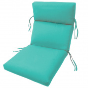 SUNBRELLA OUTDOOR channelled CHAIR CUSHIONS 22W x 44L x 3H Hinge at 60cm in ARUBA by Comfort Classics Inc.