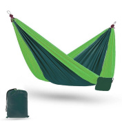 Camping Parachute Hammock for Outdoors, Free Ropes & Carabiners, Silk Double Lightweight Portable Swing Two Person Hammocks for Travel, Siesta, Backyard, Porch, Hiking, Backpacking, Beach