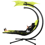 Gracelove Hanging Chaise Lounger Chair Patio Swing Hammock Canopy Camping Outdoor Leisure