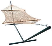 Phat Tommy Outdoor Polyester Garden Hammock and Stand Set - For Backyard, Patio and Pool Area.