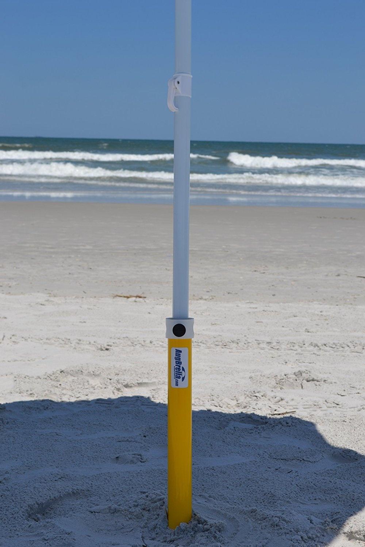 AugBrella Shorty Commercial Beach Umbrella Anchor - Holder (Yellow)