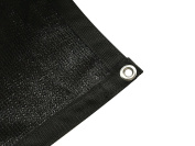 Shatex Shade Fabric for Pergola/Patio/Garden New Design Shade Panel with Grommets 1.8m x 4.9m Black
