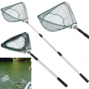 YRD TECH Safe Catch and Release Fish Landing Net Telescoping Handle Foldable Hoop