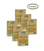 PACK OF 6 - If You Care #4 Cone Coffee Filters, Natural Brown, 100 Ct