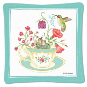 Alice's Cottage Single Spiced Mug Mat - Teacup Hummingbird