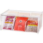 Tea Bag Organiser Storage Box - Tea Bag Holder , Clear Plastic in Premium Acrylic