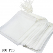100 pcs Tea Bags Filter Tea Bags Soup Chinese Herbal Medicine Cotton Gauze Bags Tea Bags One - Time Use