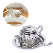 Ofcose Tea Infuser - Stainless Steel Kettle Design Tea Strainer/ Tea Filter/ Tea Ball with a Round Base