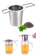 Tea Infuser,Extra Fine Mesh Folding Handle Stainless Steel Tea Infuser Filter for Steeping Loose Leaf Tea