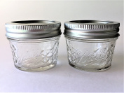 Mason Ball Jelly Jars-120ml each - Quilted Crystal Style-Set of 2