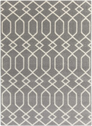 0.6m x 0.9m Entwine Passions Grey and Ivory Decorative Area Throw Rug