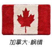 BLZZR*The entrance hall of the households to pad health bedroom door foot home flag to pad bath water absorption door mat ,40 x 60, Canada flag the largest