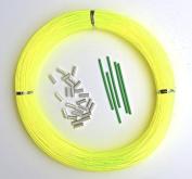 Monofilament Hi-Viz Yellow Fishing Leader Kit 100yds 1.6mm-110kg Loop 1.7mm crimps