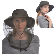 Mosquito Head Net Hat, UShake Sun Hat Bucket Hat with Hidden Net Mesh Protection from Insect Bug Bee Mosquito Gnats for Outdoor Lover Men or Women