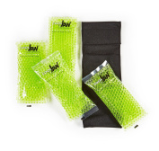 Cool Jaw Black Soft Stretch Wrap with Chin Cup with 4 Green Peas Hot/Cold Gel Packs