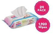 Wipes for baby and household use 80 ct Case of 24 Total of 1,920 Wipes. Buy Bulk And Save