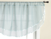 Stylemaster Elegance 150cm by 60cm Sheer Voile Ascot Valance, Spa