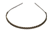 BCBGMAXAZRIA Antique Brass Chain Headband One Size