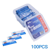 inkint 100pcs Pocket Dental Floss Individually Wrapped Oral Care Teeth Clean Flat Wire Floss Picks