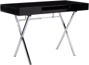 Kings Brand Furniture Contemporary Style Home & Office Desk, Black/Chrome