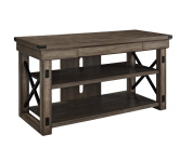Ameriwood Home Wildwood Wood Veneer TV Stand for TVs up to 130cm Wide, Rustic Grey