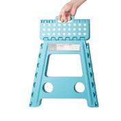 Acko 41cm Super Strong Folding Step Stool for Adults and Kids, Light Blue Kitchen Stepping Stools, Garden Step Stool, holds up to 180kg