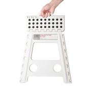 Acko 41cm Super Strong Folding Step Stool for Adults and Kids, White Kitchen Stepping Stools, Garden Step Stool, holds up to 180kg