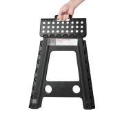 Acko Black 46cm Non Slip Folding Step Stool for Kids and Adults with Handle