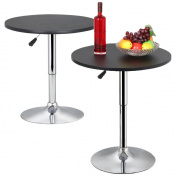 Topeakmart Modern Round Bar Table Adjustable Bistro Pub Counter Swivel Cafe Tables