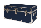 SecureOnCampus College Dorm Storage Trunks / Footlockers Small - Navy Blue