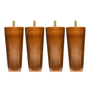 Sofa Legs Set Of 4, Round 13cm Replacement Solid Wood Furniture Leg Extenders for Sofa, Couch and Chair