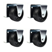 Low Profile Casters/ Wheels for Trundle Roll Out Beds or Cabinets - 5.1cm Wheels - Set of 4 (SCREWS INCLUDED) - by Combo Solutions