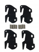 #10 Bed Rail Hooks Plate Adapter Kit For WOODEN Headboard & Footboard Frame 4 Pack CLAW IT ON intended replacement for Bed Hook #10 Plates which have been damaged or for new bed constructions