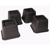 Adjustable Bed Riser Furniture Risers 9.5cm Heavy Duty Set of 4 Black Colour