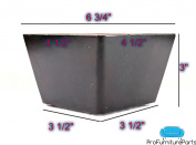 ProFurnitureParts 7.6cm Inch Dark Walnut Tapered Triangle Corner Wood Sofa Legs Set of 4 w/Attachment Screws