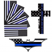 Laptop Stickers, Outgeek 7Pcs US Flag Bat Printed Removable Car Stickers Bicycle Skateboard Stickers
