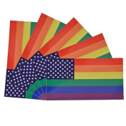 Laptop Stickers, Outgeek 5Pcs Rainbow US Flag Removable Car Stickers Motorcycle Bicycle Skateboard Stickers