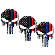 Laptop Stickers, Outgeek 3Pcs Skull Shaped Removable Car Stickers Motorcycle Bicycle Skateboard Stickers