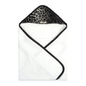 My Blankee Newborn Hooded Luxe Towel, Cheetah Black