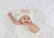 American Kiddo Premium (600 GSM) 120cm x 70cm Baby Hooded Towel & Washcloth Set | Organic Bamboo 2.5x as Thick & Soft | Baby Bath Towels with Hood for Newborn, Infant, Toddler, Boy, or Girl