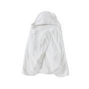 Burt's Bees Baby Bee Essentials Organic Single Ply Hooded Towel, Cloud, Toddler