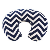 My Blankee Chevron Minky Nursing Pillow Slipcover, Navy, 46cm x 41cm x 14cm