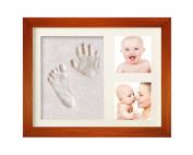 Hantajanss Baby Hand Print Frame Keepsake Preserves Priceless Memories Best Gift for Baby Registry