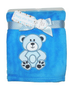 Zak & Zoey Ultra Soft Embossed Plush with Applique Baby Blanket