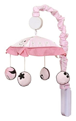 GEENNY Musical Mobile, New Pink Butterfly
