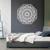 Datework Mandala Flower Indian Style Wall Stickers Bedroom Living Room Decal Art Mural